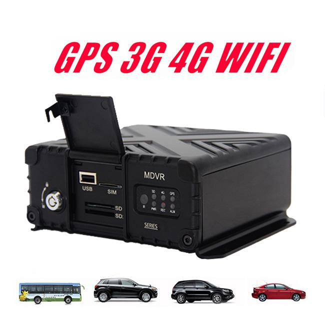 SD Card H265 Hd Digital Video Recorder Mobile DVR 4CH AHD 1080P GPS 4G DMS
